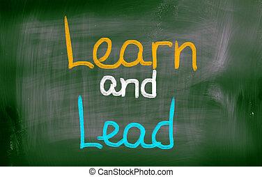 學習, 以及, 領導, 概念