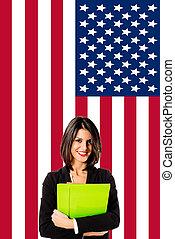 學習, 英語, 在, 美國
