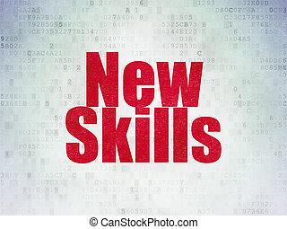 學習, concept:, 新, 技能, 上, 數字, 紙, 背景
