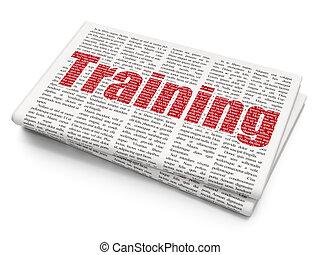 學習, concept:, 訓練, 上, 報紙, 背景