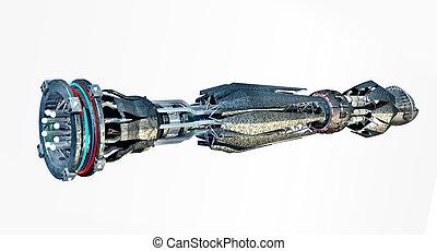 宇宙飛船, 由于, 經線, 驅動