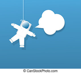 宇宙飛行士, スピーチ泡