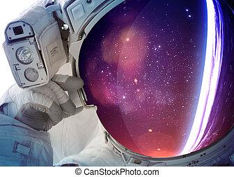宇宙飛行士, スペース, 外の