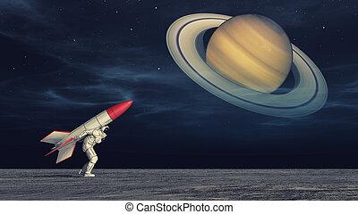 宇宙飛行士, ロケット
