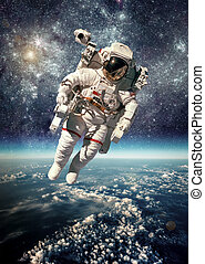 宇宙飛行士, 中に, 外宇宙