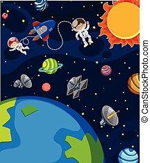 宇宙飛行士, 現場, スペース