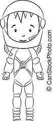 宇宙飛行士, book:, 着色, 特徴, 漫画