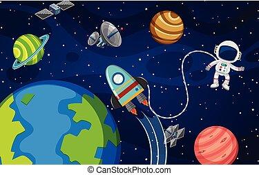 宇宙飛行士, thr, スペース