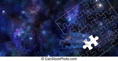 宇宙, パズル小片