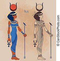 ∥守る∥, 治る, sick., woman., 女神, 1(人・つ), 最も大きい, 古代, 女性, エジプト人, isis, 地位, mythology., マジック, 女神, エジプト, 子供, ベクトル, 生活, illustration.