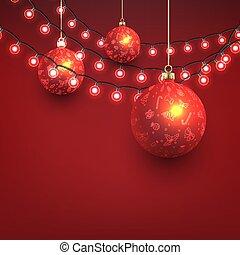安っぽい飾り, 背景, クリスマス