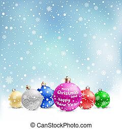安っぽい飾り, 雪, クリスマス