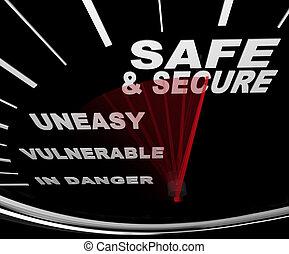 安全である, そして, 安全である, -, 速度計