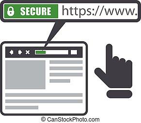 安全である, オンラインで, 支払い, -, ssl