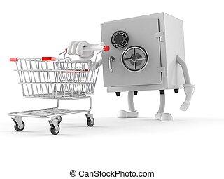 安全, 字, 推, a, 購物車