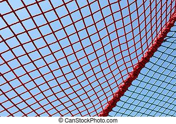 安全, 赤, 網