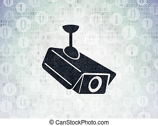 安全, concept:, 中國中央電視台照像機, 上, 數字, 紙, 背景