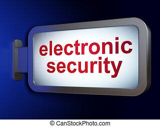 安全, concept:, 電子, セキュリティー, 上に, 広告板, 背景