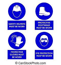 安全, mandatory, 健康, サイン