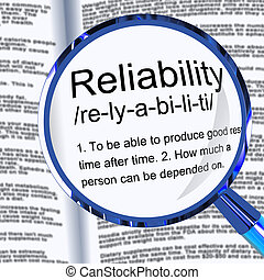安定品質, 信頼, 概念, 手段, 確実性, -, イラスト, 信頼性, アイコン, 3d
