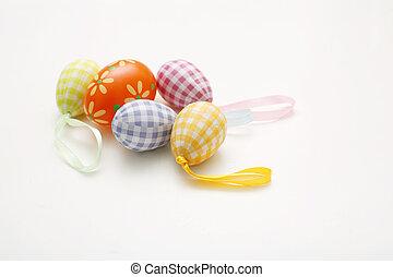 安排, ......的, 鮮艷, 復活節, eggs.