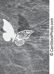 安置卡片, butterfly', 婚禮