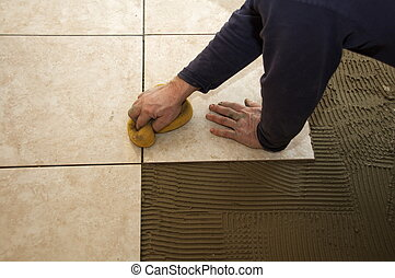 安裝, 陶器的瓦片