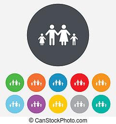 完了しなさい, 家族, 2, 印, icon., 子供