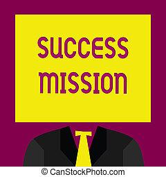 完全, 仕事, ビジネス, 成功, 得ること, 写真, 提示, いいえ, 執筆, 間違い, 概念, 仕事, 作られた, される, 方法, テキスト, mission., 手