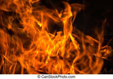 完全, 火, 背景