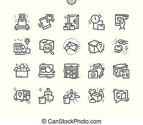 完全, 網, ベクトル, アイコン, 30, 2x, 出産, well-crafted, apps., 格子, 薄くなりなさい, グラフィックス, 線, ピクセル