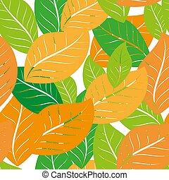 完全, 網, ペーパー, 贈り物, ブラウン, yellow., ドングリ, パターン, 葉, オーク, いっぱいになる, seamless, 挨拶, 秋, オレンジ, 背景, 壁紙, ベージュ, ページ, カード。