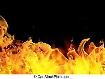 完全, 背景, 火