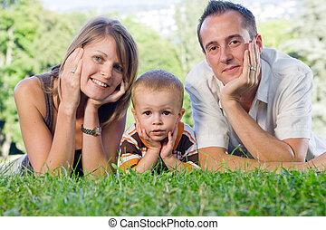 完全, 若い 家族, 幸せ