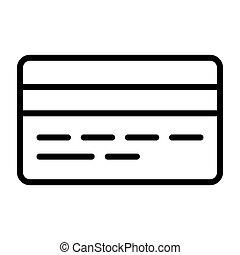 完全, pictogram, 48x48., カード, クレジット, ベクトル, 最小である, 線, アイコン, ピクセル, 単純である, 薄くなりなさい