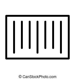 完全, pictogram, 48x48., barcode, 単純である, ベクトル, 薄いライン, ピクセル, 最小である, アイコン