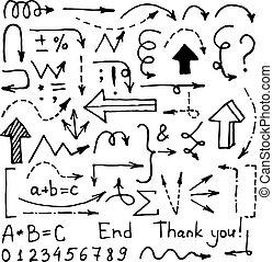 完美, 美麗, 你, 事務, 葡萄酒, arrows., editable, 手, 表達, 矢量, 設計, 完全地, 報告, 畫, 文章, 元素, 或者