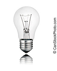 完美, lightbulb, 反映, 照片, -, 想法