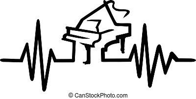 宏大的鋼琴, frequence