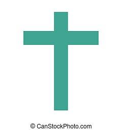 宗教, キリスト教徒, 交差点, アイコン