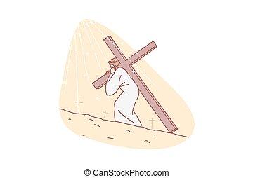 宗教, 概念, キリスト教, キリスト, 聖書, イエス・キリスト