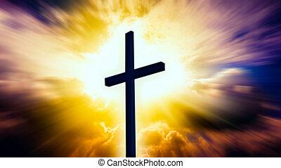 宗教, heavenly, 交差点, シンボル, 形