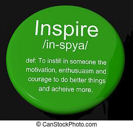 定义, 动机, 激动人心, 按钮, 鼓励, 显示, 灵感