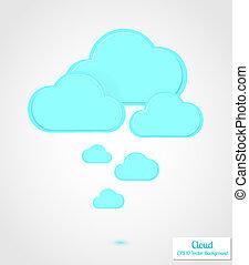 定型, バックグラウンド。, 抽象的, ベクトル, 雲