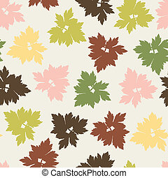 定型, パターン, seamless, leaves., 秋, ベクトル