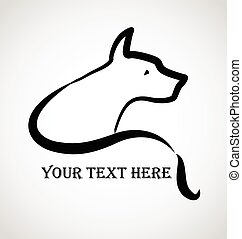 定型, ロゴ, 犬