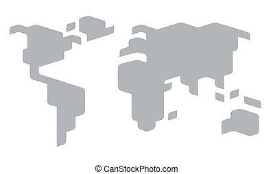 定型, 世界地図
