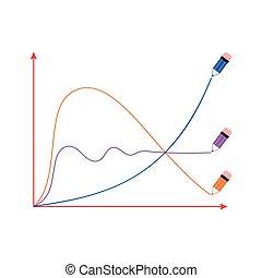 定型, 写実的, ベクトル, 経済, イメージ