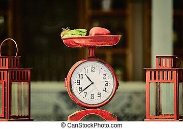 定型, 古い, 時計
