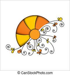 定型, 太陽, 要素, 花